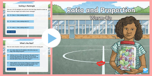 year 6 ratio and proportion maths warmup powerpoint ks2