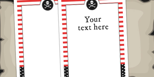 Pirate Themed Birthday Party Editable Poster - birthdays, parties