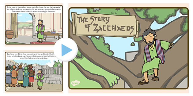 Zacchaeus the Tax Collector Bible Story PowerPoint - Twinkl