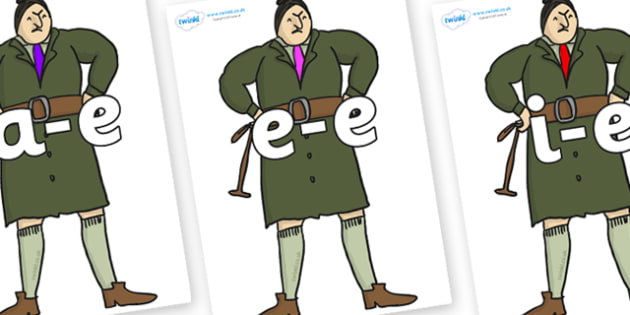 Modifying E Letters on Mrs Trunchbull to Support Teaching on Matilda - Modifying E, letters, modify, Phase 5, Phase five, alternative spellings for phonemes, DfES letters and Sounds