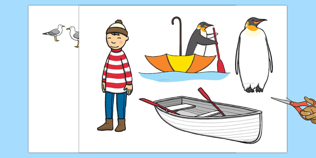 Story Cut Outs to Support Teaching on Lost and Found - lost, found, stories, cut out