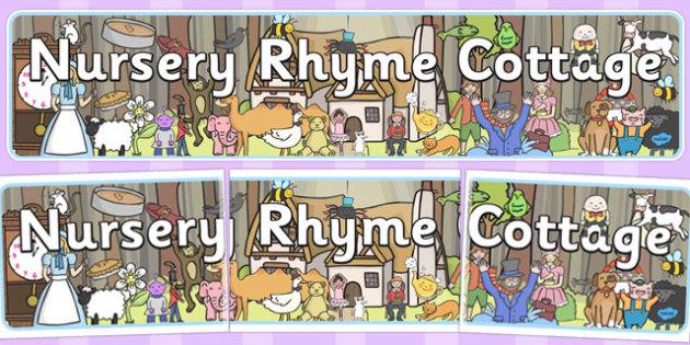 Nursery Rhyme Cottage Banner - nursery, rhyme, cottage, banner