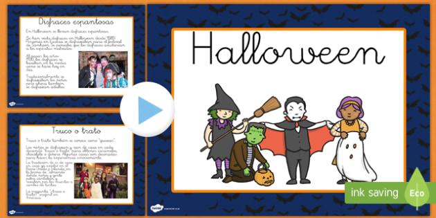 Halloween informativo Presentación-Spanish