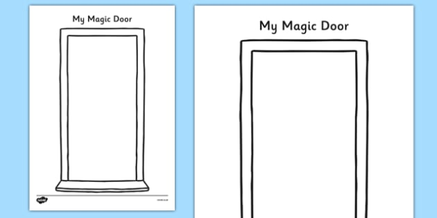 My Magic Door Activity Sheet - my magic door, activity sheet, activity, magic door, imagination, worksheet