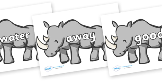 Next 200 Common Words on Rhinos - Next 200 Common Words on  - DfES Letters and Sounds, Letters and Sounds, Letters and sounds words, Common words, 200 common words
