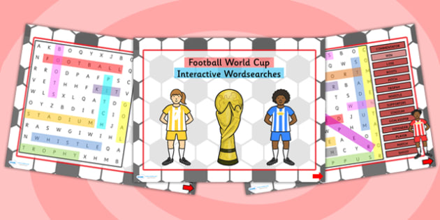 Football World Cup Interactive Wordsearches PowerPoint - football