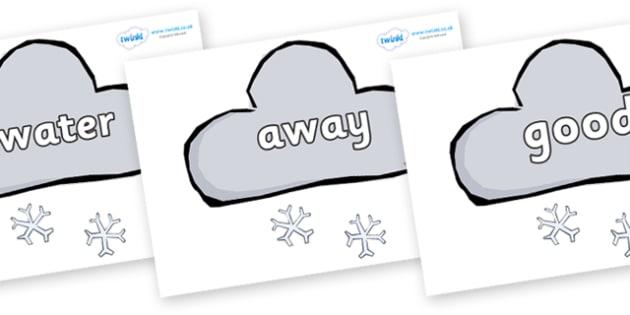 Next 200 Common Words on Weather Symbols (Snow) - Next 200 Common Words on  - DfES Letters and Sounds, Letters and Sounds, Letters and sounds words, Common words, 200 common words