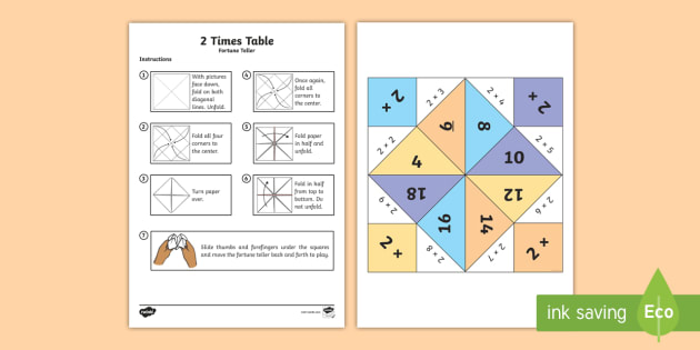 Get Free Printable Times Table Fortune Teller Gif