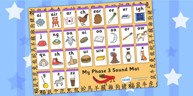 Chinese New Year Phase 3 Sound Mat - chinese, new year, phases
