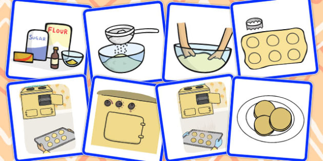 8 Step Sequencing Cards Biscuits - sequencing, cards, biscuits