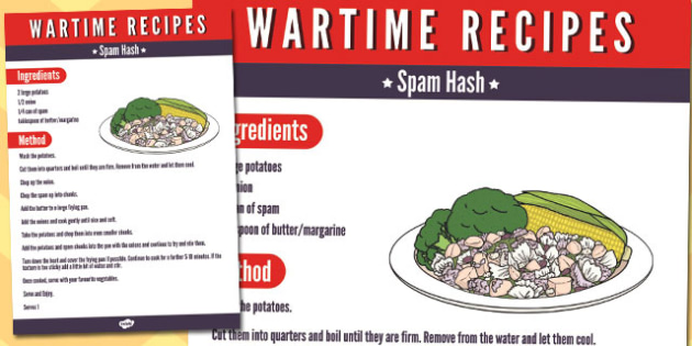 Wartime spam hash recipe wartime recipe spam hash ration forumfinder Images