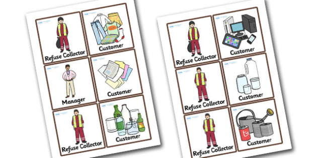 Recycling Centre Role Play Badges - recycling centre, role play, badges, role play badges, recycling centre badges, badegs for recycling centre, recycling