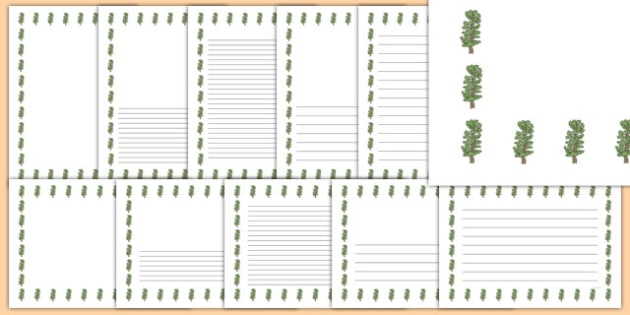 Hawthorn Tree Themed Page Borders - hawthorn tree, themed, page borders, page, borders