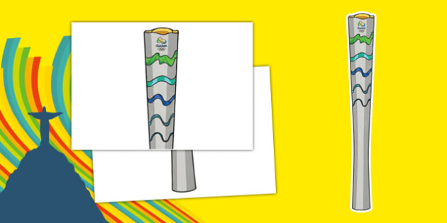 Olympic Display Torch - usa, america, olympics, 2016 olympics, rio 2016, rio olympics, display, torch