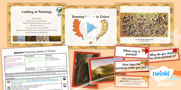 Art: Autumn: Drawing Leaves in Colour LKS2 Lesson Pack 2