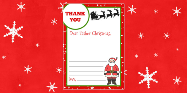 Thank you letter to father christmas thank you letter father thank you letter to father christmas thank you letter father christmas spiritdancerdesigns Images