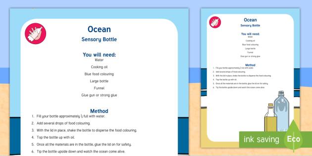 Ocean Sensory Bottle - ocean, sensory bottle, sensory, bottle, eyfs, early years