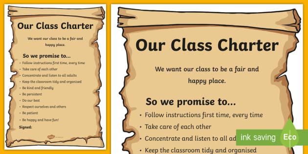 Class Charter Poster - class charter, class, charter, poster, display poster, display