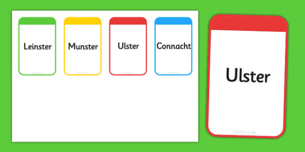 Provinces of Ireland Flashcards - roi, irish, republic of ireland, provinces, flashcards