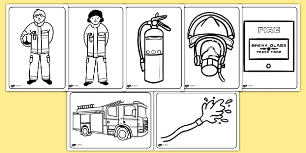 Fire service colouring pages fire fire service colouring for Fire station coloring page