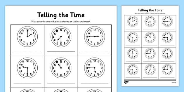 o clock half past and quarter to times worksheet activity