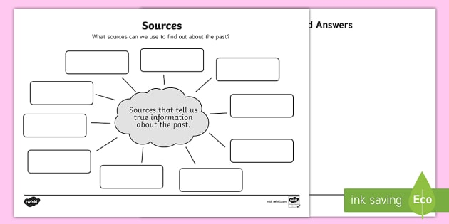 Sources Differentiated Worksheet / Activity Sheets - Primary