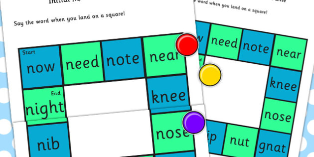 Initial 'n' Production Game - n, vowel, sound, sounds, game