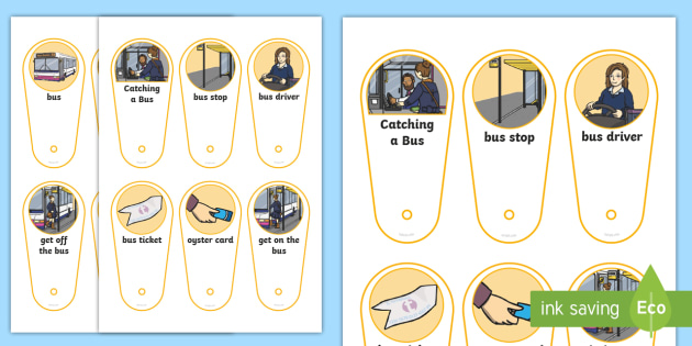Catching a Bus Communication Fan - bus ride visual support, catching a bus visual support, visual timetable