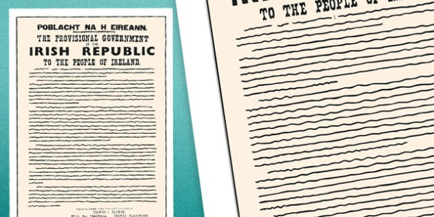 1916 Rising Proclamation Poster - Easter 1916 Rising, irish history, proclamation, poblacht na heireann