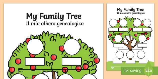 My Family Tree EnglishItalian My Family Tree Worksheets – Family Tree Worksheets