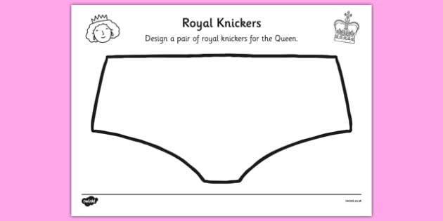 Royal Knickers Design Sheet - royal knickers, the queen's knickers, design sheet