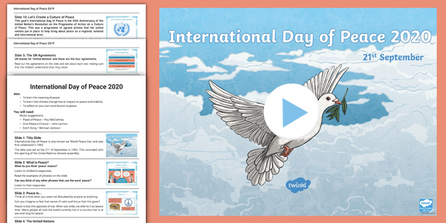 Whole School International Day Of Peace 2019 Assembly Pack
