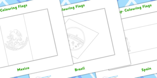 World Cup Colouring Flags - Football, Flag, World Cup, Soccer, fine motor skills, colouring, activity, nations, countries, flags