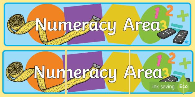 Numeracy Area Display Banner EYFS - numeracy, eyfs, banner