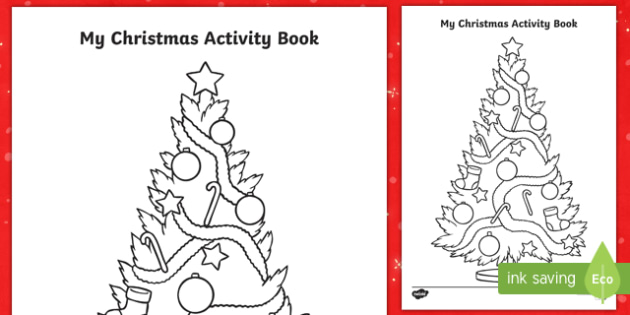 My Christmas Booklet Title Colouring Page-Australia