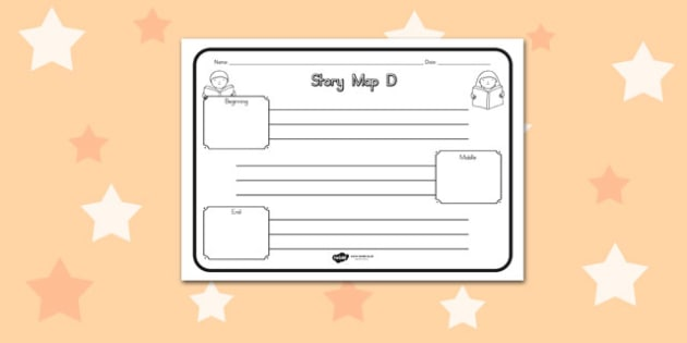 Story Map D Worksheet - australia, story, map, d, worksheet