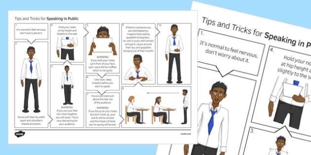 Speaking in Public Skills Poster - public speaking, presentations