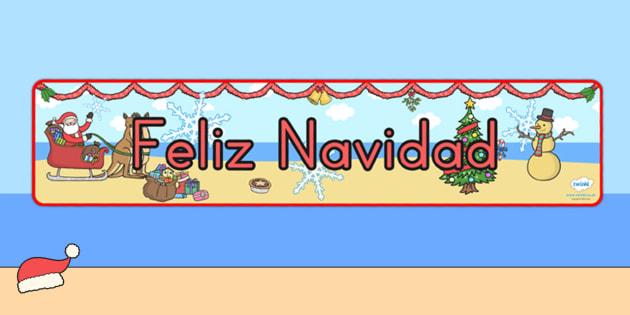 Australia Christmas Display Banner Spanish - christmas, banner, spanish