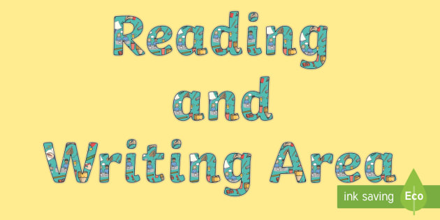 Reading and Writing Area Display Lettering - display, letter