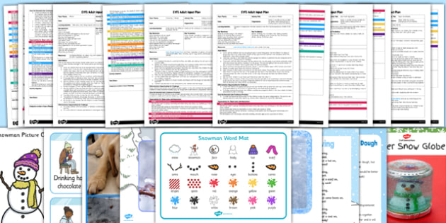 EYFS Winter Themed Adult Input Planning and Resource Pack - EYFS, early years planning, arctic, cold places, frozen