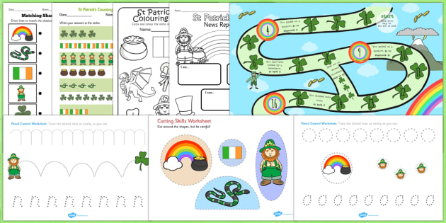 St Patricks Day Activity Pack - activities, celebrate, celebrating