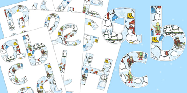 Winter Themed Display Letters and Numbers Pack - winter, display, letters, numbers, pack