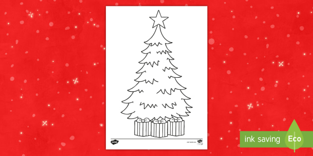 Blank Christmas Tree Template Activity Christmas Colouring Draw A