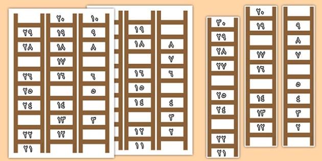 أوراق عمل سلم العدد الناقص - أعداد، أوراق عمل، العدد الناقص