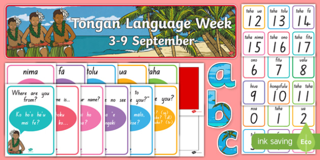 Tongan Language Week Resource Pack