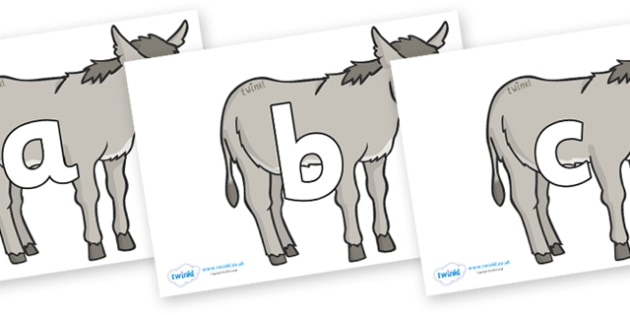 Phoneme Set on Donkeys - Phoneme set, phonemes, phoneme, Letters and Sounds, DfES, display, Phase 1, Phase 2, Phase 3, Phase 5, Foundation, Literacy