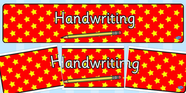 Handwriting Display Banner - handwriting, display banner, display
