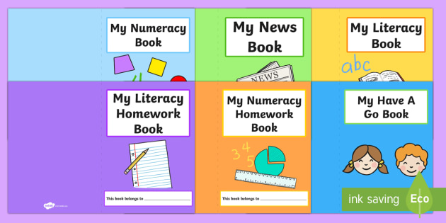 Class Subjects Book Covers - subjects, transition, book cover