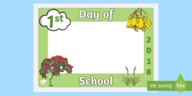 First Day of School 2018 Native Trees Photo Booth Frame Cut-Outs