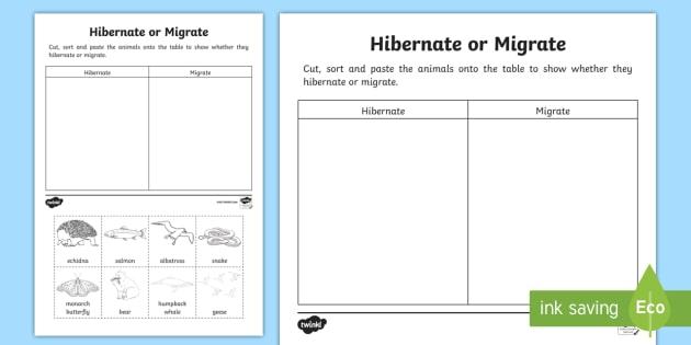 animals that hibernate or migrate worksheet worksheet australia. Black Bedroom Furniture Sets. Home Design Ideas